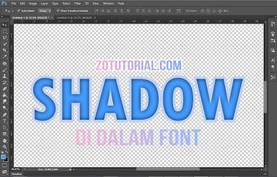 Membuat Efek Shadow di Dalam Tulisan Menggunakan Photoshop | Inner Shadow