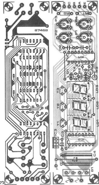 PCB design for digital ammeter voltmeter circuit