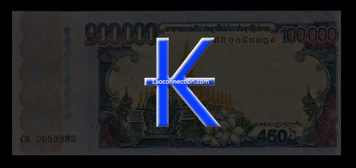 Lao money currency symbol