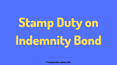 stamp duty for indemnity bond