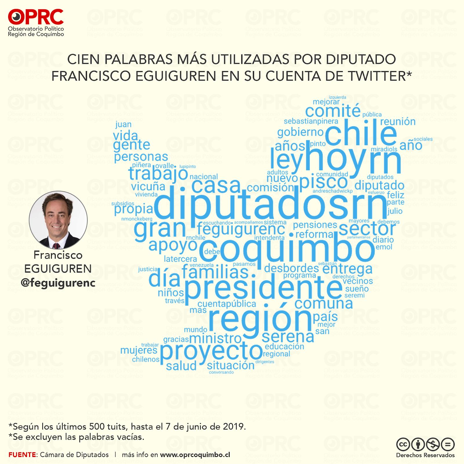 Palabras más usadas por Diputado Francisco Eguiguren en Twitter
