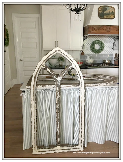 Faux Cathedral Arch Window- French Country-Farmhouse-Cottage-DIY-From My Front Porch To Yours