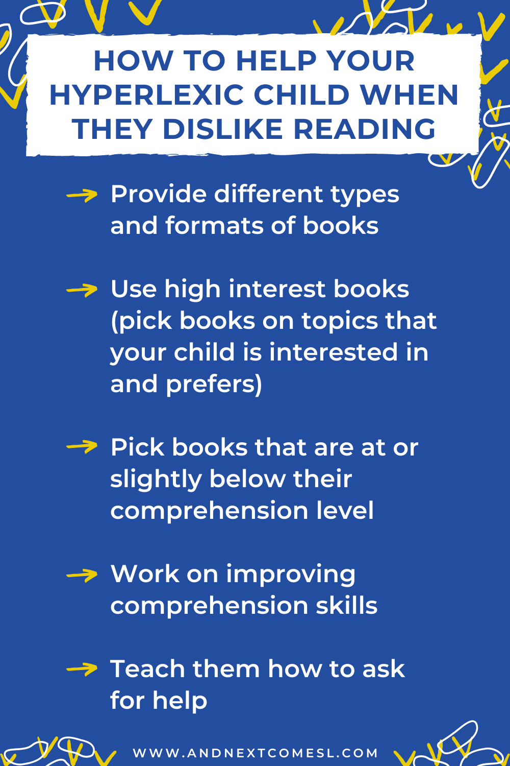 How to help a child with hyperlexia when they start to dislike reading