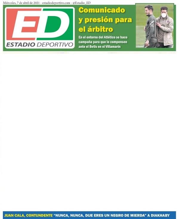"""Betis, Estadio Deportivo: """"Comunicado y presión para el árbitro"""""""
