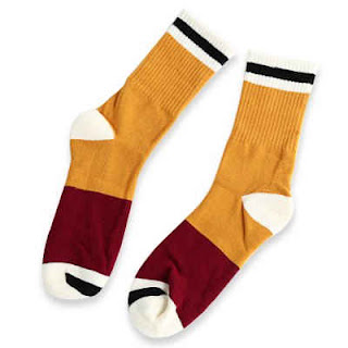 Paired Men Athletic Socks  -  YELLOW