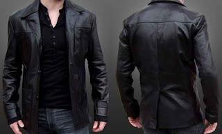 contoh model jaket panjang dari bahan kulit kw online murah untuk pria
