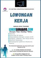 Bursa Kerja Surabaya di CV. Mitra Grafika Packaging Sidoarjo Juli 2020