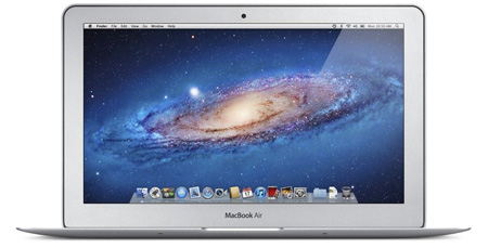Apple MacBook Air MC968LL front end view