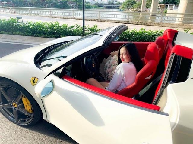 Cận cảnh hotgirl 24 tuổi sở hữu Ferrari 458 Spider thứ 2 tại Việt Nam