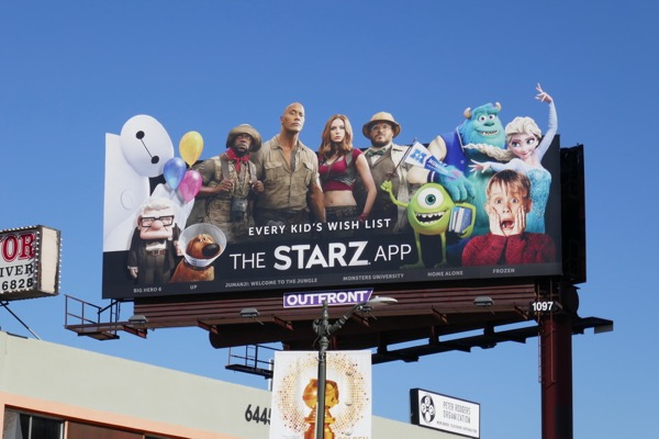 Starz movie app billboard