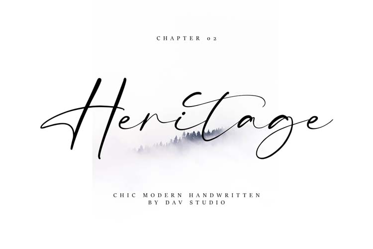 Heritage Font - Free Beautiful Handwritten Typeface