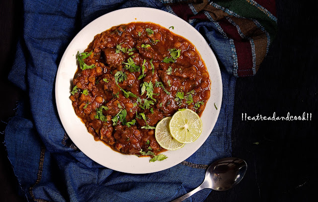 Chanay ki Daal Gosht recipe with step by step pictures