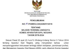 Seleksi Pendaftaran Terbuka Komisi ASN 2019-2020 Resmi Dibuka