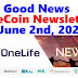 OneCoin Newsletter, June 2nd, 2020