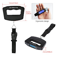 Portable Luggage Scale Digital Hanging Postal Scale Tare Function
