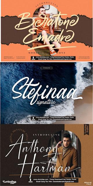 Chia sẻ bộ fonts thiết kế khá ấn tượng