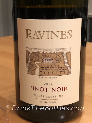 2017 Ravines Wine Cellars Pinot Noir Label