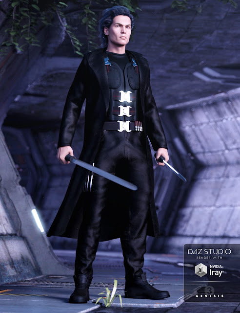 Vampire Executioner Outfit for Genesis 3 Male