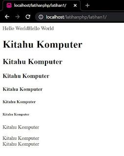 [ TUTORIAL PHP #1 ] - Struktur halaman PHP