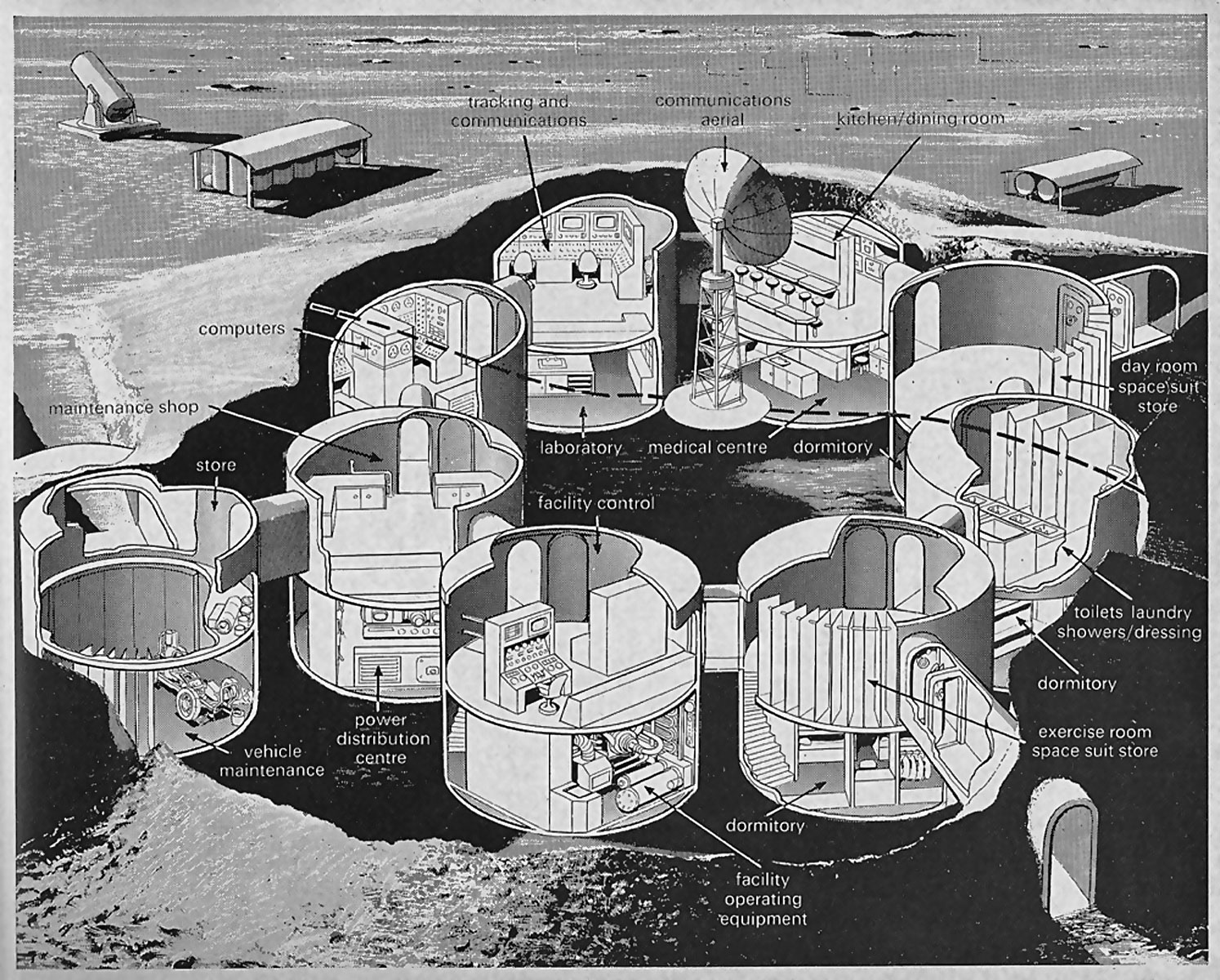 moon base drawing - photo #2