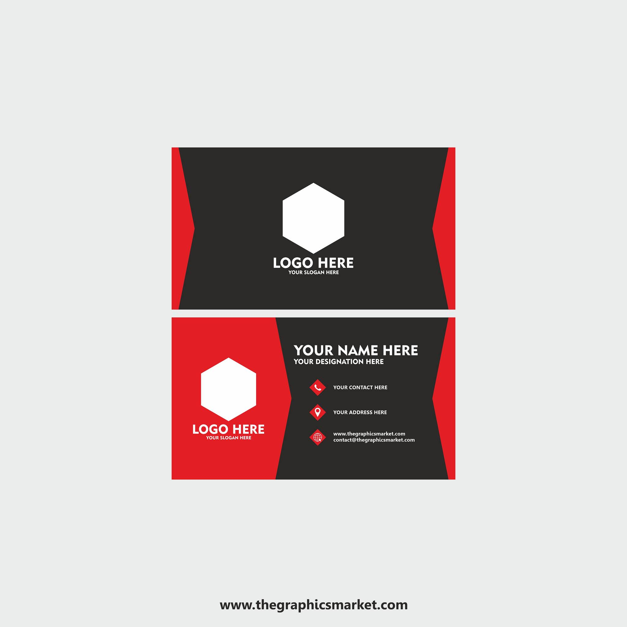 the graphics market, thegraphicsmarket, business card design,