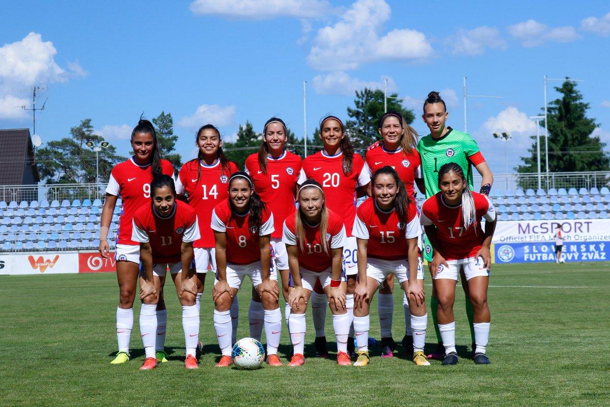 Formación de selección femenina de Chile ante Eslovaquia , amistoso disputado el 10 de junio de 2021