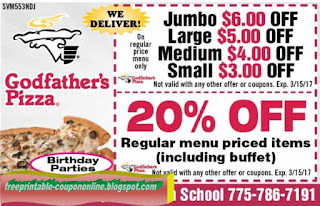 Free Printable Godfathers Pizza Coupons