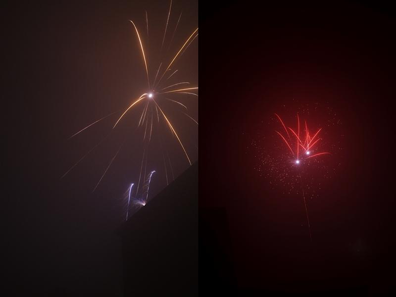 Himmelsblick: Buntes Feuerwerk an Silvester