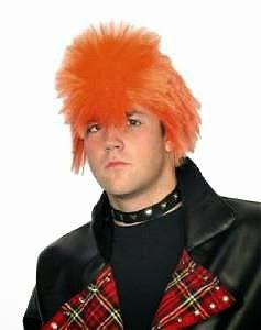 Orange, Spiky Punk Wig