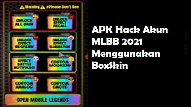 APK Hack Akun MLBB 2021