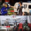 Camat Biringkanaya, Memantau dan Mengukur Suhu Tubuh Pengendara Roda Dua di Batas Kota Makassar, Kab Maros