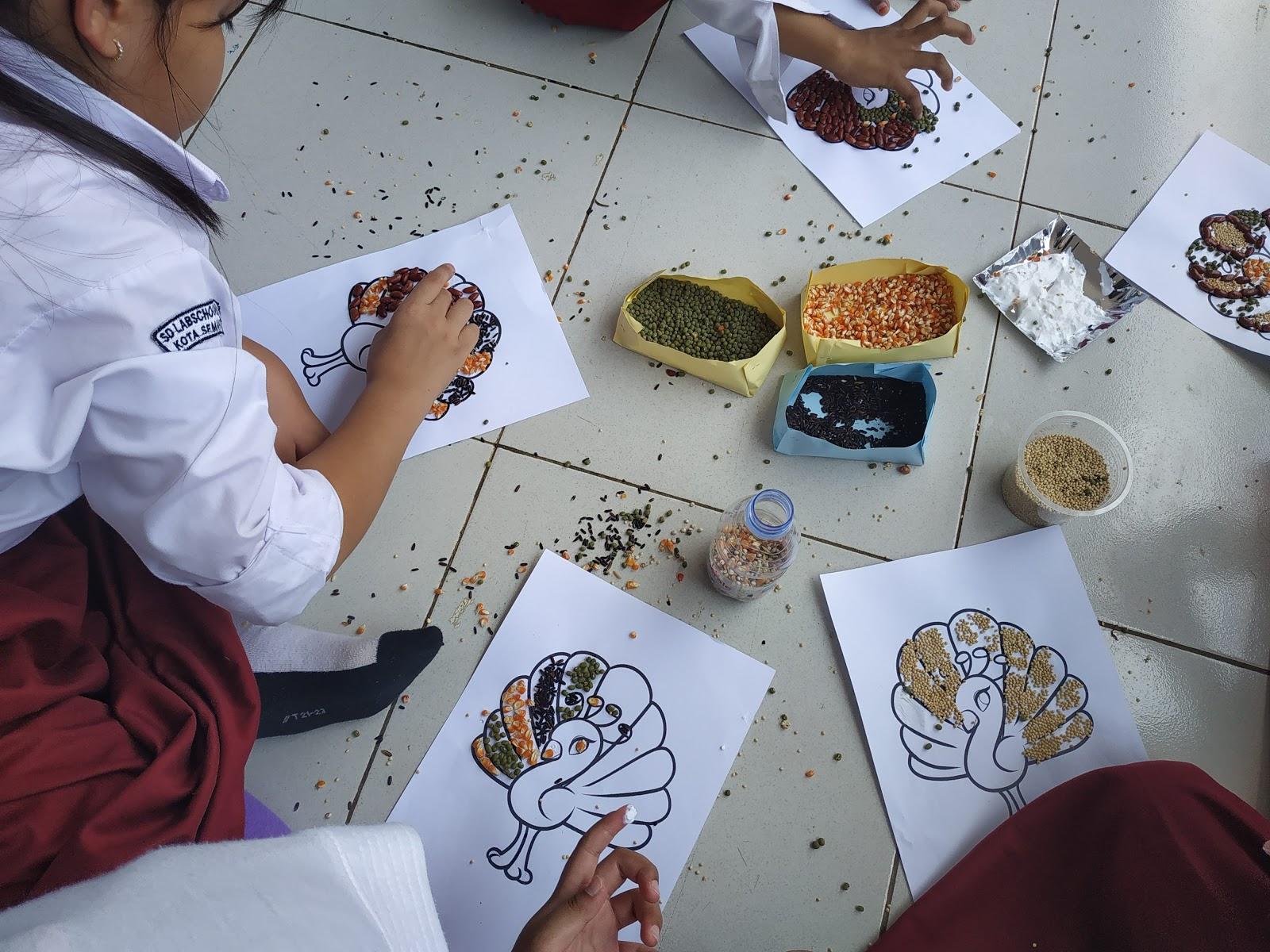 Cara Membuat Mozaik Dari Biji Bijian Devina Mutia Azzahra