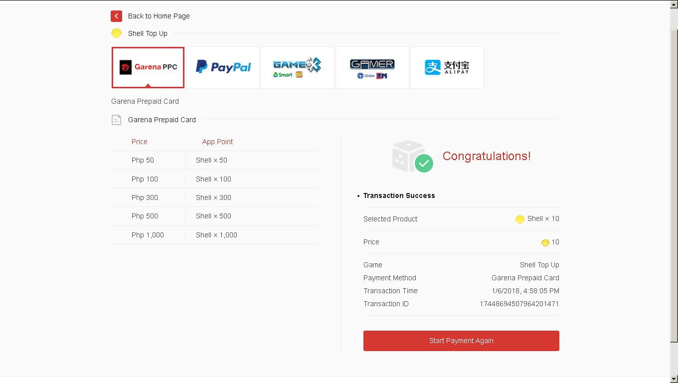 Free-t2o-play: How to load / Top up and convert garena