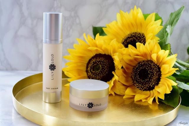 Pielęgnacja twarzy kosmetykami Lily Lolo: krem na dzień Hydrate Day Cream i krem na noc Hydrate Night Cream