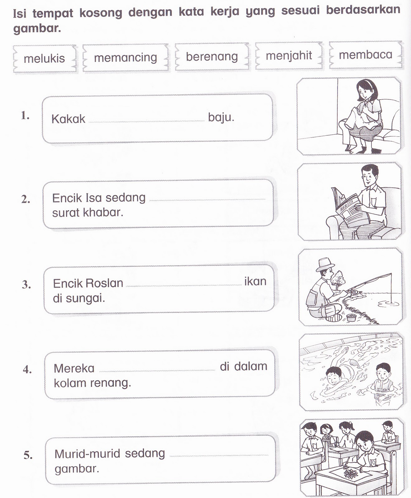 Worksheet Bahasa Indonesia For Kindergarten