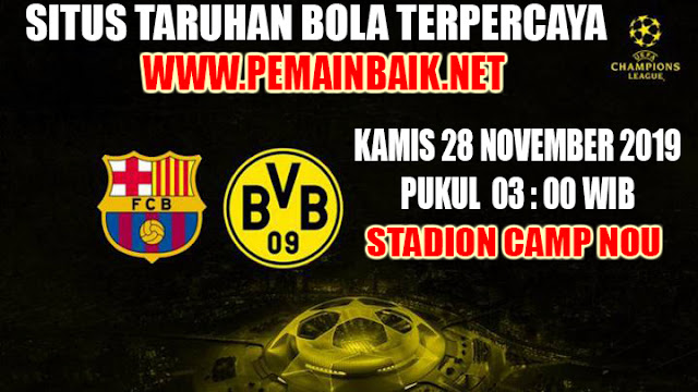 Jadwal Liga Champions Dini Hari Nanti : Barcelona VS Dortmund