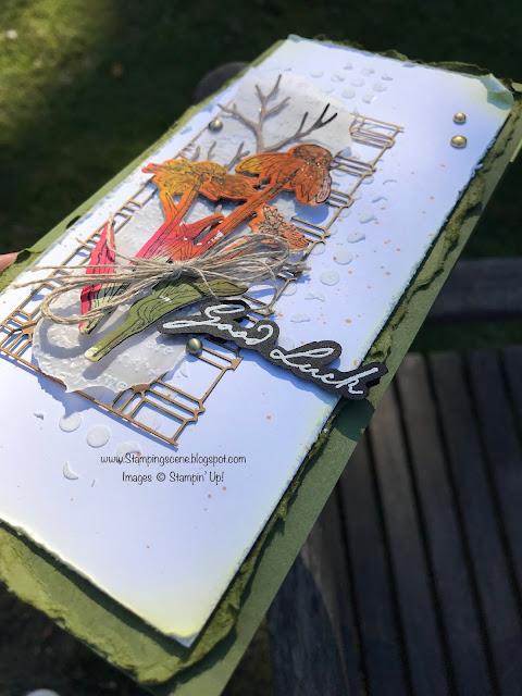 stampin up nature's harvest bundle mixed media card making