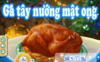 Game gà tây nướng mật ong cho đêm giáng sinh
