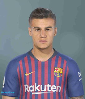 PES 2019 Faces Philippe Coutinho by Hugimen
