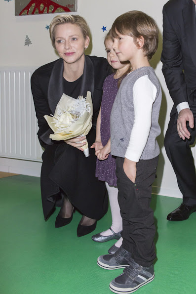 Prince Albert and Princess Charlene of Monaco visited the Red Cross day care centre