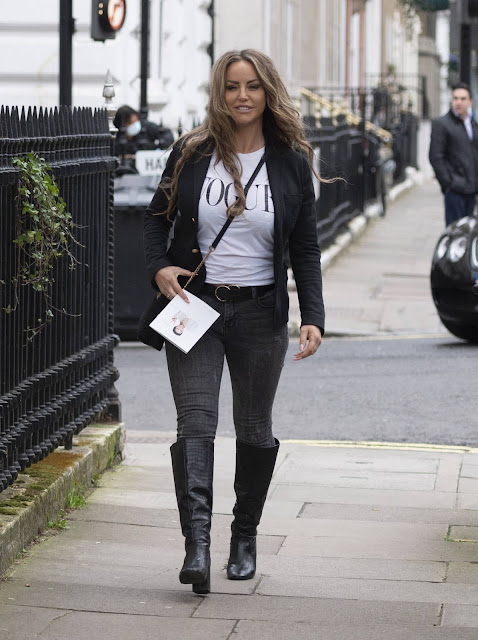 Danielle Mason – Leaving Harley Street Clinic In London