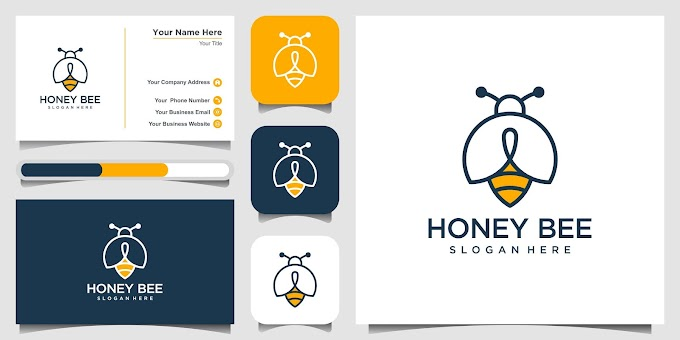 Minimalist Branding Logo & Business Card Design (Honey Bee)