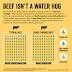 94% da água alocada para a produção de carne bovina é chuva natural