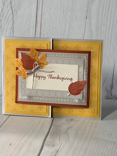 Thanksgiving Greeting Card using Stampin' Up! Banner Year Stamp Set