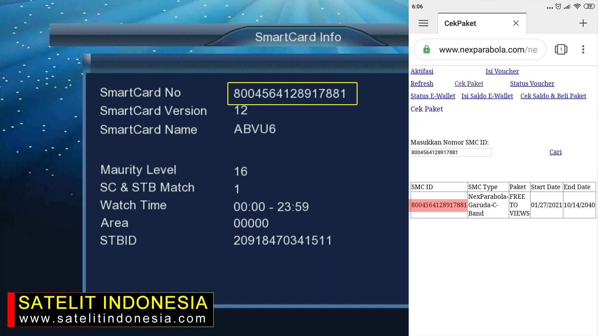 Cara Cek Paket Nex Parabola Garuda G2 HD