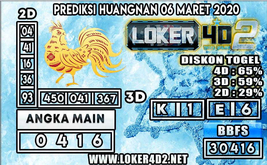 PREDIKSI TOGEL HUANGNAN LOKER4D2 6 MARET 2020