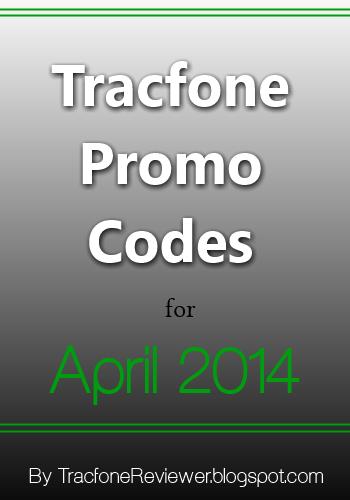 tracfone promo codes april 2014