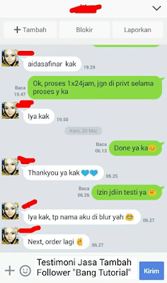Testimoni Jasa Tambah Follower Instagram