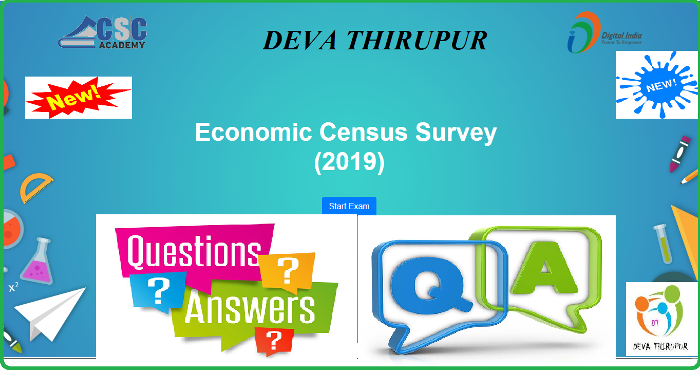 7th Economic Survey Exam Questions and Answers (Q&A) - 2019
