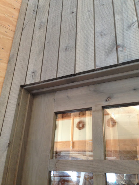 Shiplap Wall with DIY Silver Barnwood using #Weatherwoodstains on #fg2b